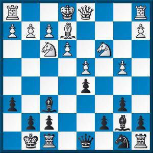 Black to play, QGD Tartakower line