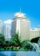 The Dusit Thani. 5-star but showing its age slightly.