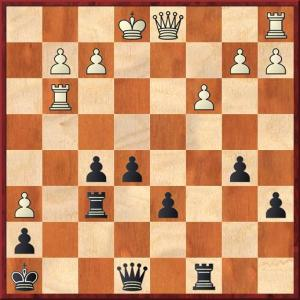 Having weathered a kingsude attack the queen's rook is about to enter the game with devastating effect with Rc4 and e4 or g4 to come.