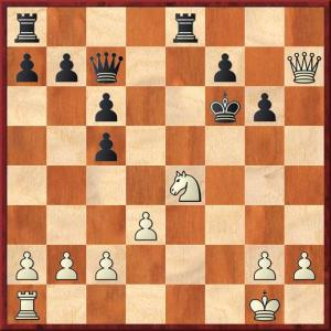 The game has moved on but my opponent is still playing strange moves. The knight is far too strong to be left on the board. I was expecting 18...Rxe4. After 18...Ke7 the attack just played itself.