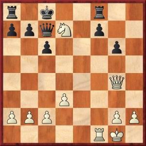 Game over. After 24 Nxf8 Kd8. White plays 25 Ne6. A strange win that didn't really count owing to the play of my opponent.