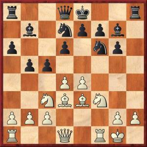 White plays 11 d5 and in doing so concedes the central dark squares. The black knights will come to g4 and e5. White already has many problems to solve. I was not happy with my position at all.