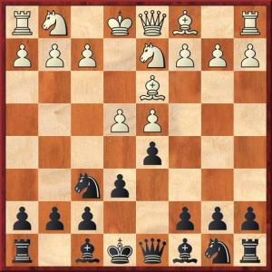 It's an early morning game but I did notice that white has forgotten to play e5