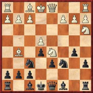 With an early Nd5 black should play Qa5+ but there is a major drawback to this move. White's only sensible reply is Bd2, at which point the queen must return to d8. Since my opponent was rated lower than me, I thought he might try to grab a draw. I played Be6 instead.