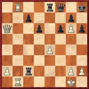 After 29 Qa8 black resigns although he has a perfectly playable move, which is what?