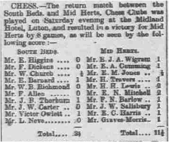 1908 return match Beds Advertiser and Luton Times Fri Mar20